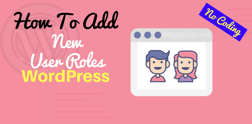 How To Add New User Roles on Your WordPress Site BloggerSprout.com