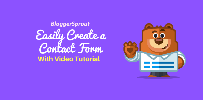 Easily Create a Contact Form in WordPress [ Video Tutorial ]