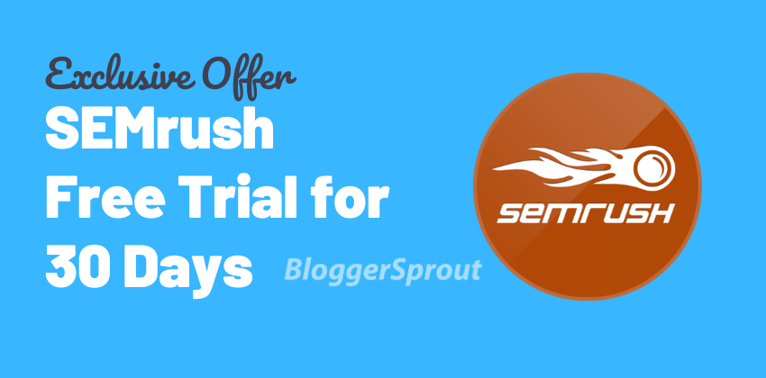 SEMrush PRO 30-Days Trial and GURU 14-Days FREE Trial Offers