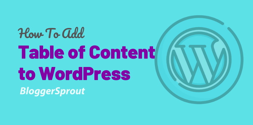 How To Add Table of Content to WordPress