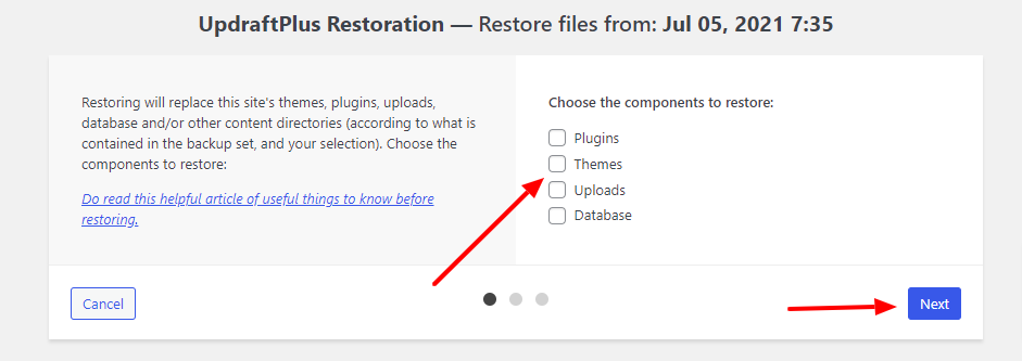 How To restore WooCommerce Database using updraftplus