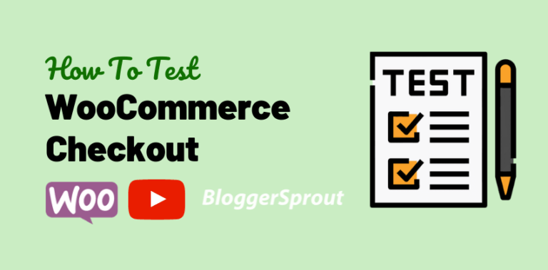 test woocommerce checkout BloggerSprout